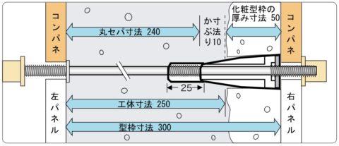 チューブコーン 使用するセパレーター寸法について